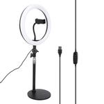 Luz anular durável, luz de preenchimento ajustável, 3 cores de iluminação para fotografia de maquiagem de selfie com transmissão ao vivo