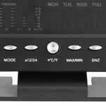Medidor Digital de Temperatura Umidade Relógio Alarme Nível de conforto Tempo Foreca Home