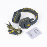 Gray & Yellow macia pu almofada de couro Stereo Gaming Headset Para Sades SA708 tr