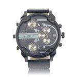 Super Grande Rodada clássico Quartz Analog Watch Mini mostradores sub pu Sports-LUMINOUCUP