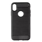 Telefone Casos Capa Para iPhone8 fibra de carbono Shell escovado macio tpu silicone[Omygod]