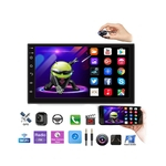Kit Central Multimidia Android 8 Sandero 2015 A 2019 Gps BT Wifi 1 GB Ram 16 GB + Moldura Painel Preto + Chicote Instalação & Câmera de Ré