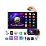 Kit Central Multimidia Android 8 Ka 2015 A 2018 Gps BT Wifi 1 GB Ram 16 GB + Moldura 2 Din Com Bordo Prata + Chicote Instalação & Câmera