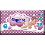 Fralda Descartável Infantil Diguinho Plus Atacado Revenda G - 28 UNI.