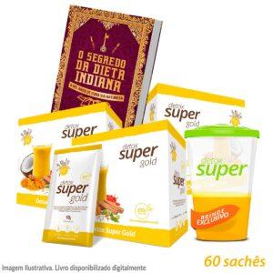3 caixas Detox Super Gold + Livro de Receitas Digital (Ganhe Copo)