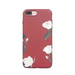 Mulheres simples rosa branca estilo phone case capa traseira anti-queda para iphone