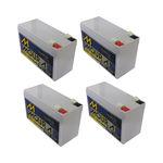 Kit 4 Baterias Moura Estacionária 12v 7ah Vrla Para Nobreak Alarme Cerca