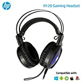 HEADSET GAMING HP COM ILUMINACAO E MICROFONE STEREO 2 P2+USB - H120 1QW67AA