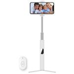 Bakeey L02 3 em 1 Tripé Selfie Vara Bluetooth Temporizador Controle Remoto para ios Android Preto Branco Rosa com Espelho de Clipe