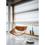 Cortina Persiana Romana Tela Solar 5% Branco Off White 1,40 X 1,60