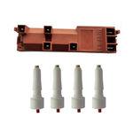 Lt 6142 - Kit 1 Usina De Ignição + 4 Eletrodos Com Terminais Fino Para Fogões Cooktop Dako
