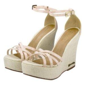 Sandália Barth Shoes Estrela Verniz Feminina - Feminino-Nude