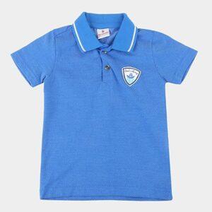 Camisa Polo Bebê Brandili Maquinetada Masculina - Masculino-Azul