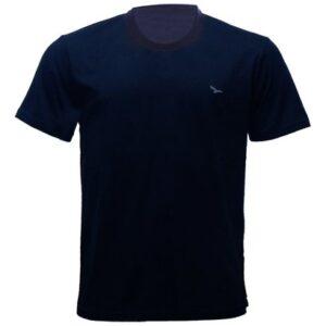 Camiseta Alma De Praia Gola Redonda Lisa - Masculino-Marinho