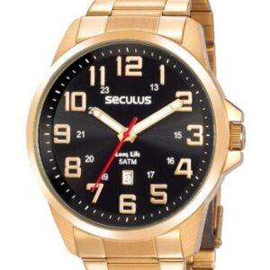 Relógio Seculus Masculino - Feminino-Dourado