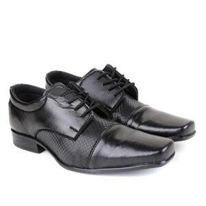 Sapato Social Walkabout Alto Brilho Masculino - Masculino-Preto
