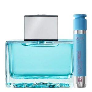 Kit Perfume Feminino 80ml EDT + Perfume Feminino Dose 30 Antonio Banderas Blue Seduction for Woman - Feminino-Incolor