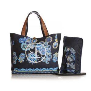 Kit Chinelo Blue Bags + Necessarie + Bolsa de Praia Mandala Feminina - Feminino-Azul