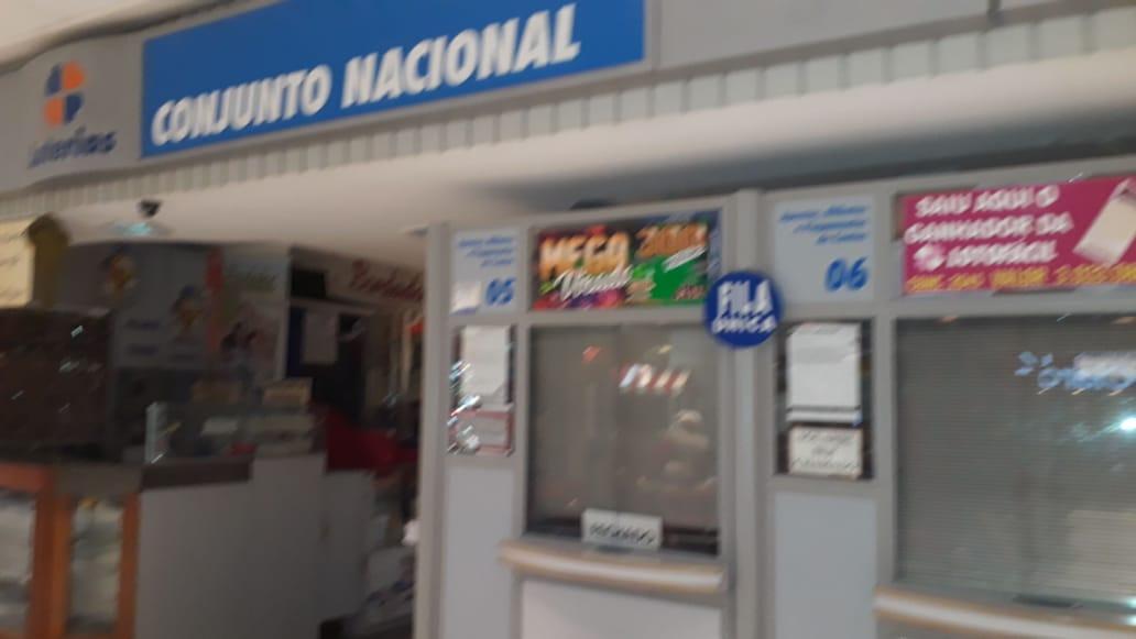Lotérica Conjunto Nacional, Comércio do DF