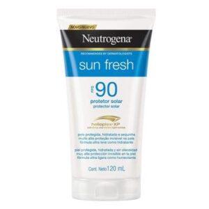 Protetor Solar Neutrogena Sun Fresh FPS 90 120ml - Unissex-Incolor