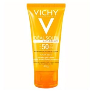 Protetor Solar Facial Vichy - Idéal  Soleil Toque Seco FPS 50 40g - Unissex-Incolor