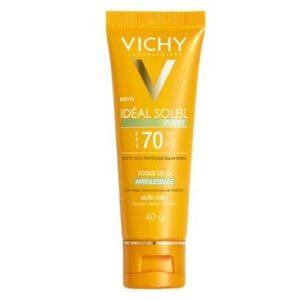 Protetor Solar Vichy  Idéal Soleil Purify FPS 70 40g - Unissex-Incolor