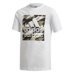 Camiseta Estampada Adidas - Unissex-Branco