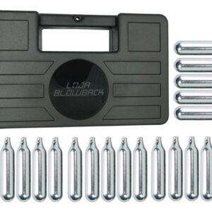 Cilindro Ampola 12g Co2 Capsula Airsoft 20 Pçs + maleta/case