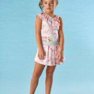 Conjunto Infantil Verão Fotografias, 2 peças - Kiki Xodó - 2 - Rosa