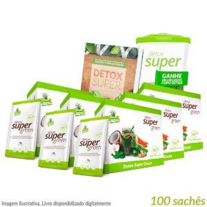 5 caixas Detox Super Green (Edição Especial) + Livro de Receitas Digital e Brinde Copo