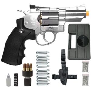 Revolver Pressão Rossi 708 Full Metal Co2 Cromado Airgun 4,5 K5 - 4.5 mm