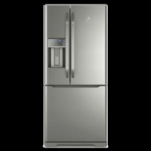 Geladeira Frost Free Electrolux 538 Litros 3 portas Inverse Cor Inox com Água na Porta (DM85X)