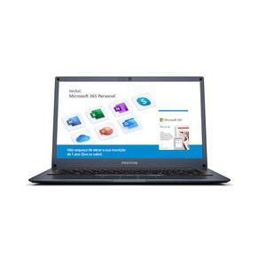 "Notebook Positivo Motion Q 4128B Intel® Quad-Core™ SSD 128GB 4GB Windows 10 Home Tela 14"" Deep Blue - Inclui Microsoft 365 por 1 ano"