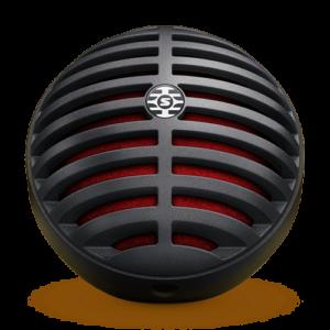 Microfone Digital MV5 MV5/A-B-LTG Preto e Vermelho