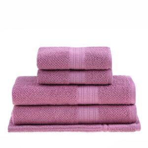 jogo de toalhas de banho buddemeyer 5 peças frape rosa 1340