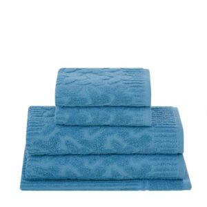 jogo de toalhas de banho buddemeyer 5 peças isabelle azul