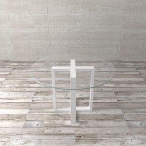 Tampo de Vidro para Mesa de Jantar Vetro Incolor D120cm
