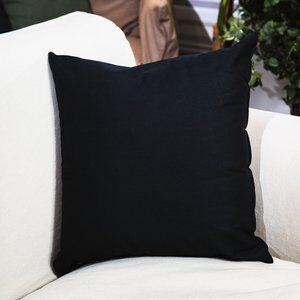 Almofada de Algodão Santorine Preta 45x45cm