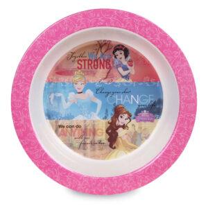 Prato Bowl - Disney - Princesas - Branco e Rosa - Baby Go