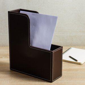 Porta Arquivo Premium Marrom 27cm