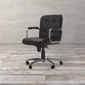Cadeira Diretor Andisia de Couro Sintético Preta