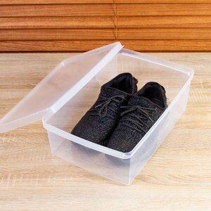 Caixa para Sapato My Closet Transparente 35x11cm