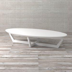 Mesa de Centro Lexis Branca com Brilho 150cm
