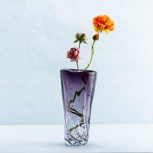 Vaso de Vidro Unique Roxo 25cm