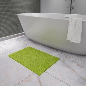 Tapete de Banheiro Mini Chenille Verde 50x70cm