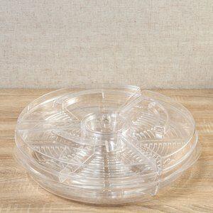 Petisqueira de Plástico com 6 Divisórias Ice D42cm