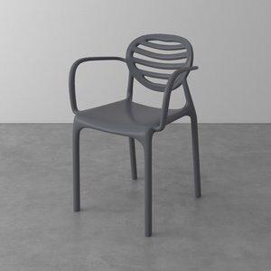 Cadeira com Braço Penha de Polipropileno Cinza