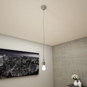 Canopla Light Cinza E27 Bivolt