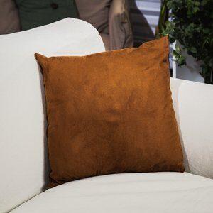 Almofada de Suede Toscana Caramelo 45x45cm