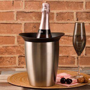 Balde Resfriador de Champagne Vacu Vin